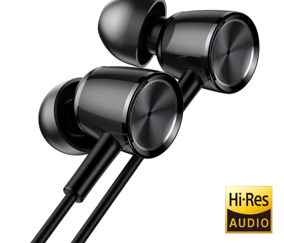 Baseus H07 Hi-Res Audio Wired Earphone Stereo Bass Sound Headset Metal