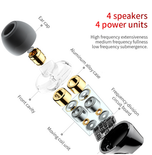 Baseus S10 Double dynamic bluetooth earphone / H10 3.5MM Wired Earphone stereo bass sound earphones