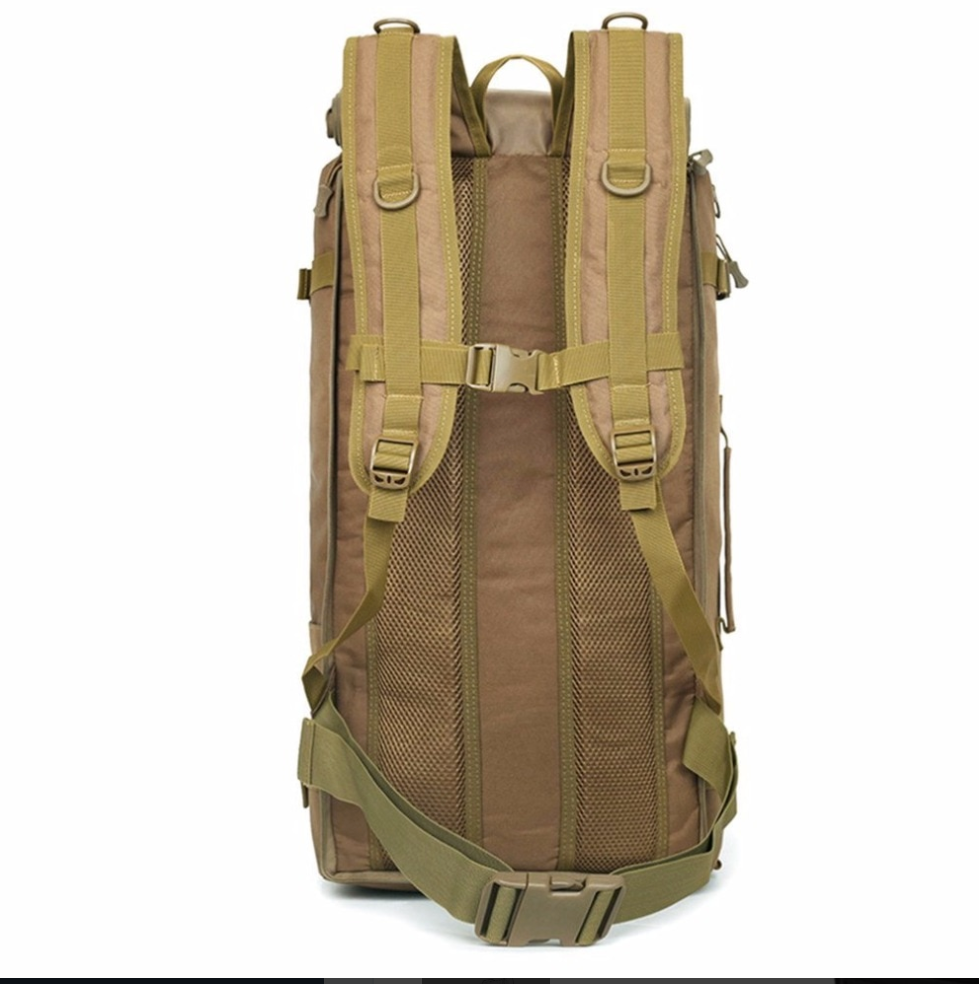 60L Large Capacity Outdoor Sports Backpack Multifunctional Tactical Bag Unisex Hiking Climbing Backpack Oxford Cloth Knapsack