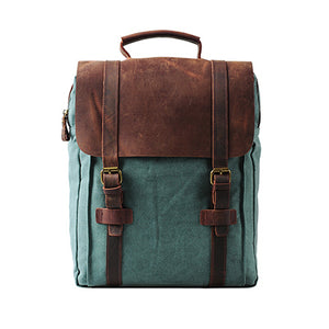 Patchwork male Backpack Vintage