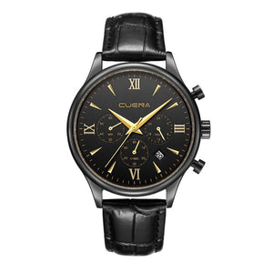 Fashion Men Watch Leather Casual