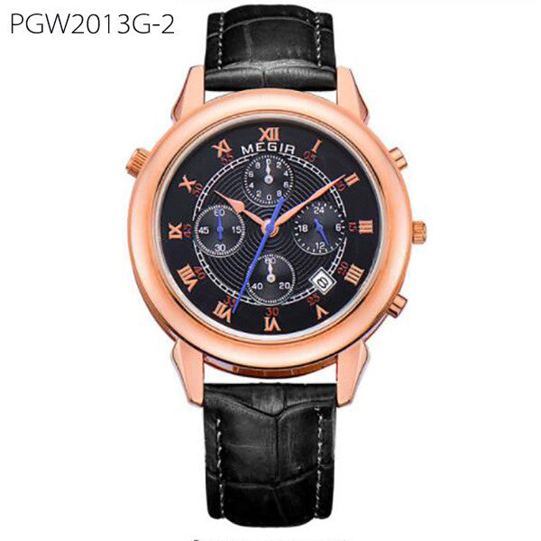 Original Military Watch Men Quartz Wristwatch Clock Genuine Leather Bracelet Roman Dial Classic Watches