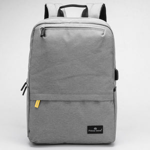 USB Charging Grey Backpack College Students