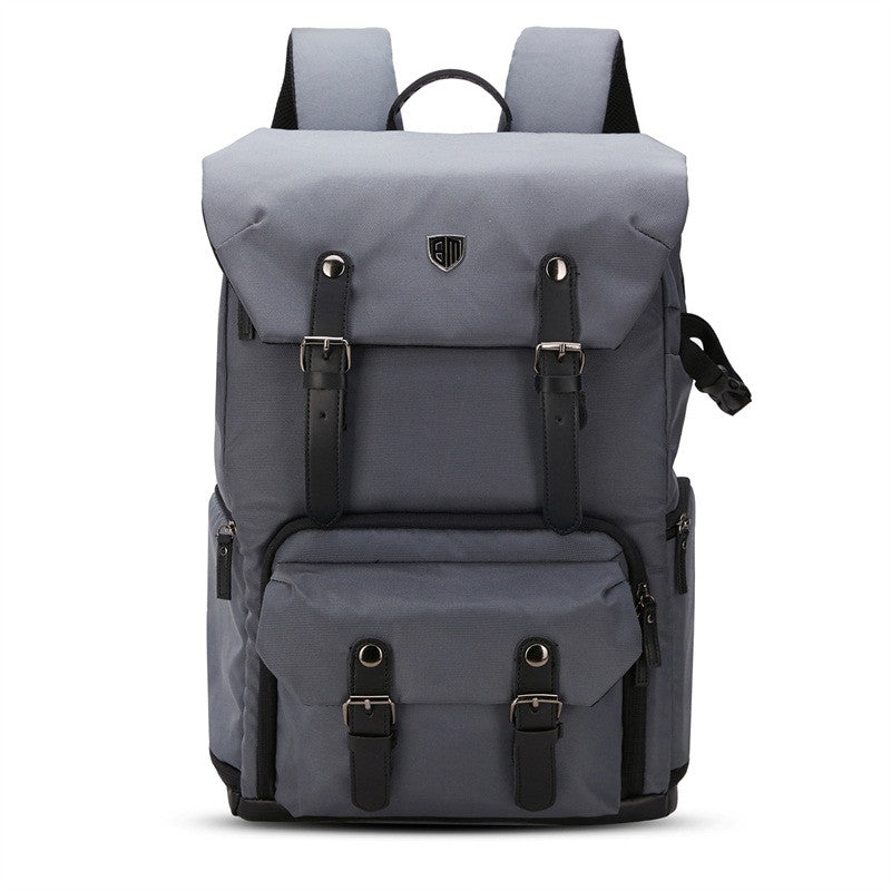 BAGSMART Leather Retro Camera Backpack