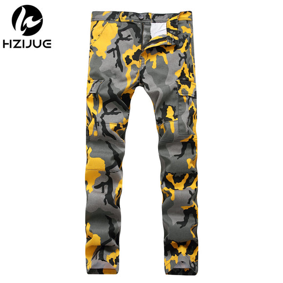 Hip Hop Casual Men and Women Orange Pink Camouflage