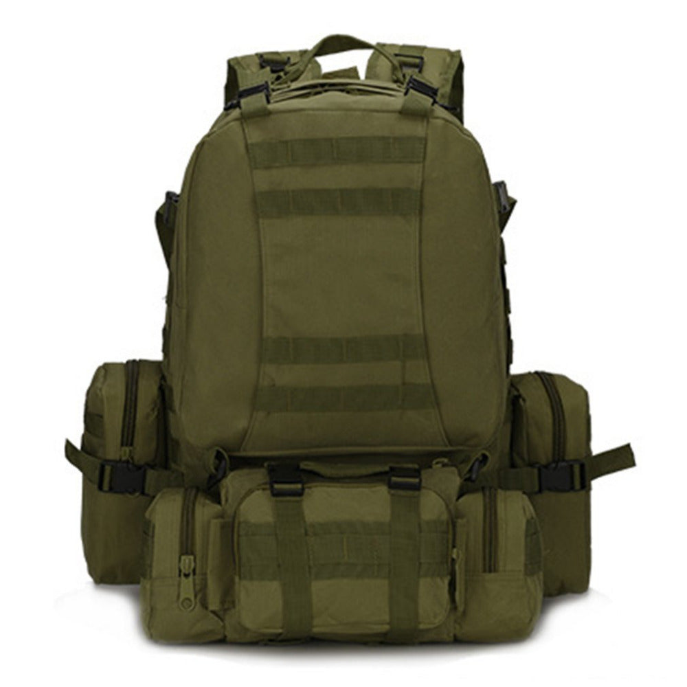 Outdoor Camping Backpack Large Capacity Sports Hiking Military Tactical Mountaineering Bag Waterproof Oxford Cloth Bag