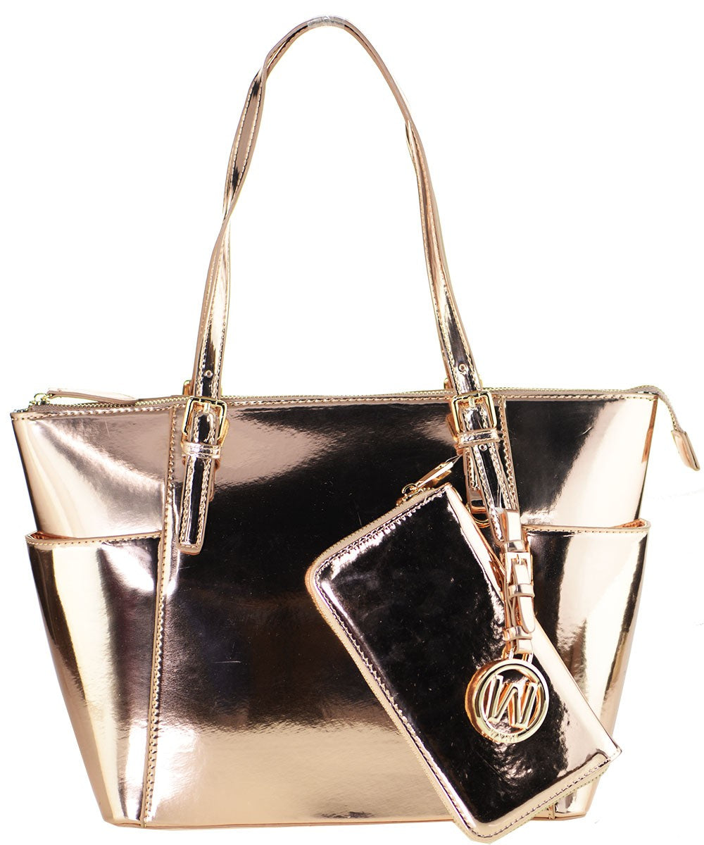 Purse-Metallic Rose Gold w/Wallet