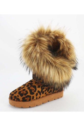 Leopard Boots with the Fur
