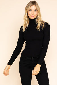 Rib Turtleneck-Black