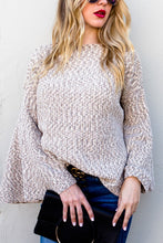 Bell of a Sleeve Sweater-Oatmeal