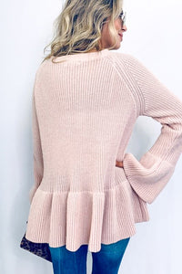 Lovely Day Pink Sweater