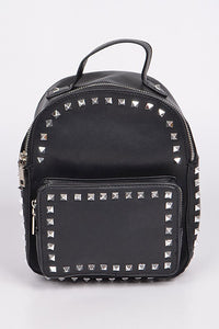 Biker Studded Backpack