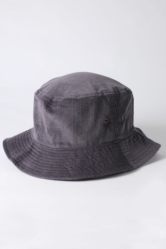 Bucket Hat-Grey Corduroy