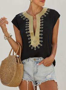 Egyptian Blouse-Black