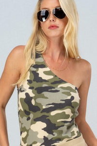 Camo One Sided Top
