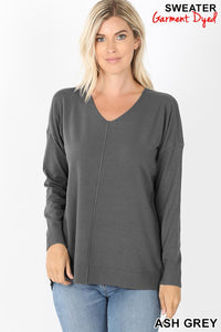 Hi-Lo Sweater-Ash Grey