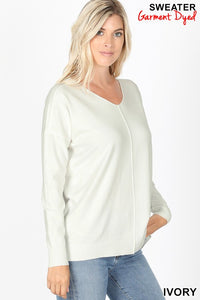 Hi-Lo Sweater-Ivory