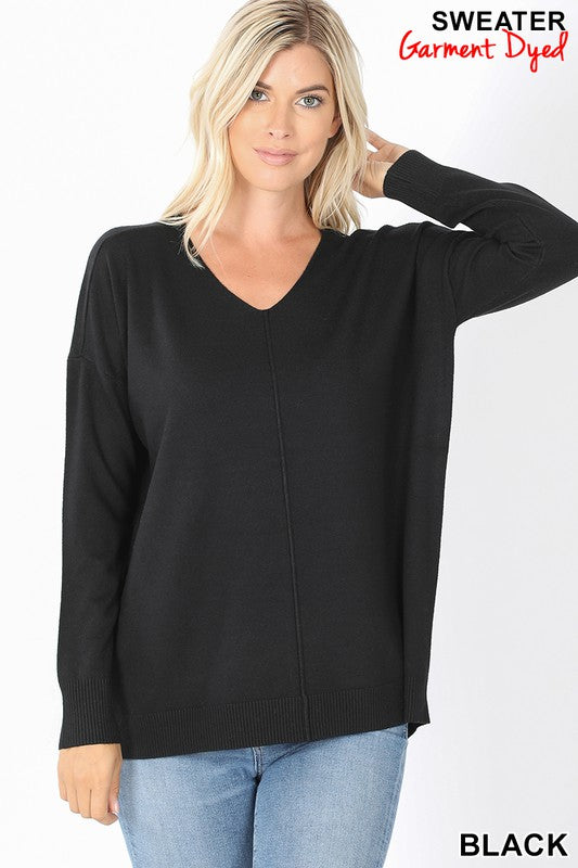 Hi-Lo Sweater-Black