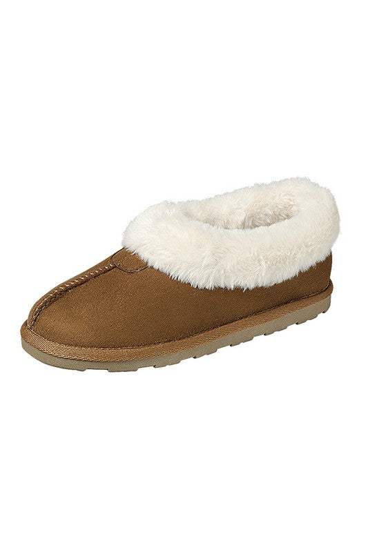 Tan Slipper Booties