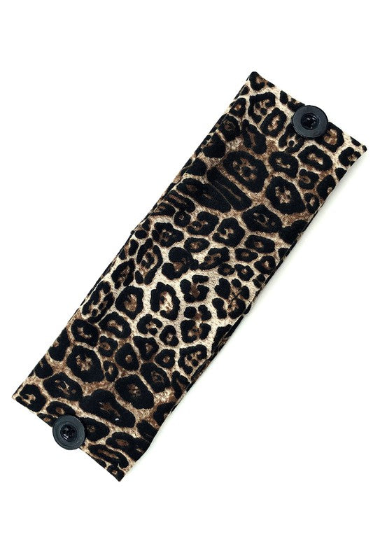 Mask Head Wraps-Leopard Brown