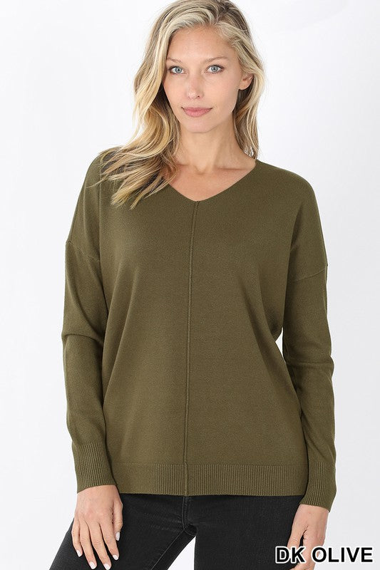 Hi-Lo Sweater-Olive