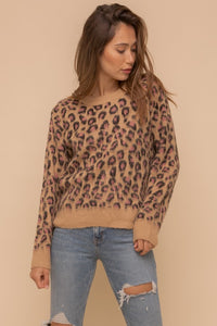 Leopard Pink Sweater