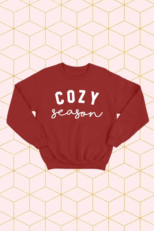 Cozy Season Sweatshirt-Red