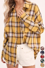 Brianna Plaid Flannel Shirt-Mustard