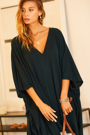 Spring Poncho Tunic Top