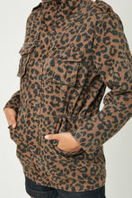 Leopard Denim Cargo Jacket