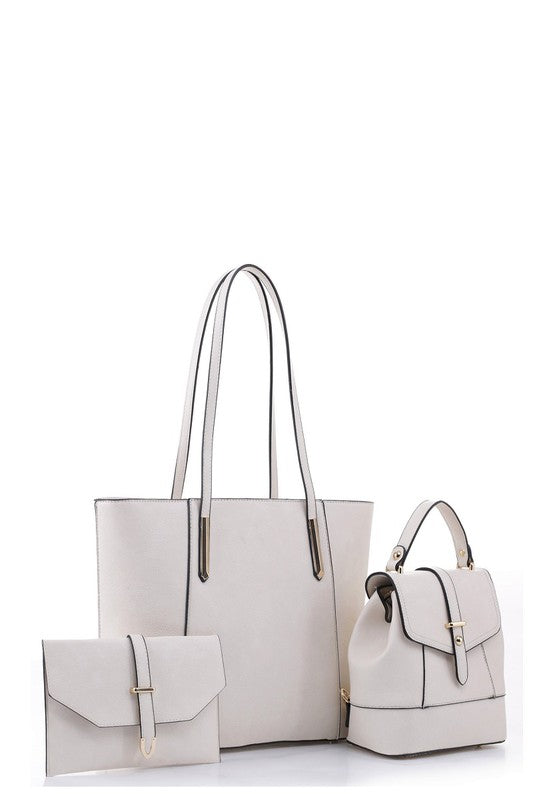 Beige 3-in-1 Shopper Set