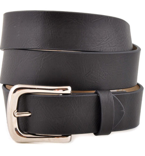 Belt-Leatherette-Black