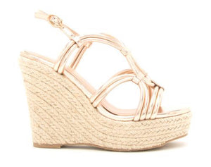 Quipid-Kelsey Rose Gold Sandals