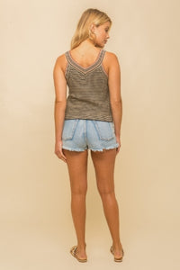 About Brown Crop Tank
