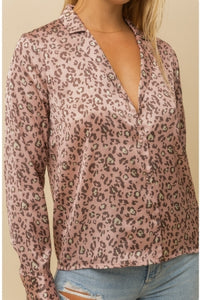 Leopard Satin Blouse