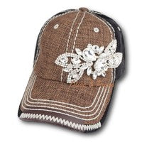 Crystal Floral Stitch Cap