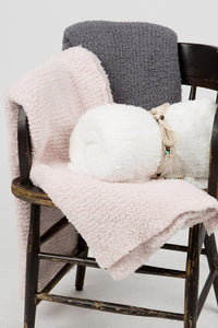 Berber Throw-GREY, PINK, WHITE