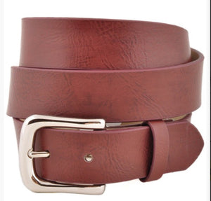 Belt-Leatherette-Brown