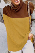Mustard Color Block Sweater
