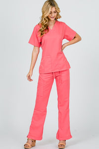 Scrubs Top-Coral