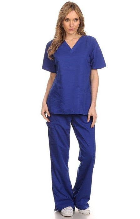 Scrubs Top-Royal Blue