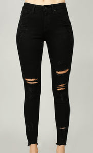 Kan Can Gemma Black Distressed Jeans