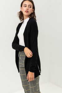 Black Cardigan w/Slits