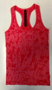 Workout-Coral Racer Back Tank
