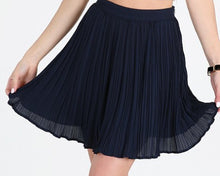 NB Pleated Mini Skirt-Navy