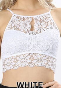 Bralette-Lace White