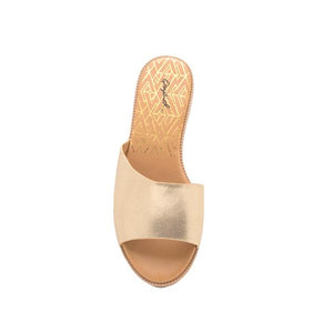 Quipid-Desmond-Gold Distressed Metallic Slide