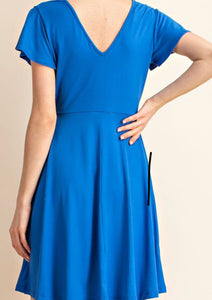 Royal Blue Flare Dress
