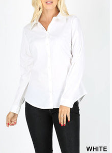Basic White Collar Blouse
