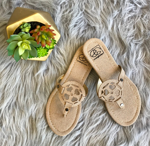 Lulu Sandals-Natural Canvas